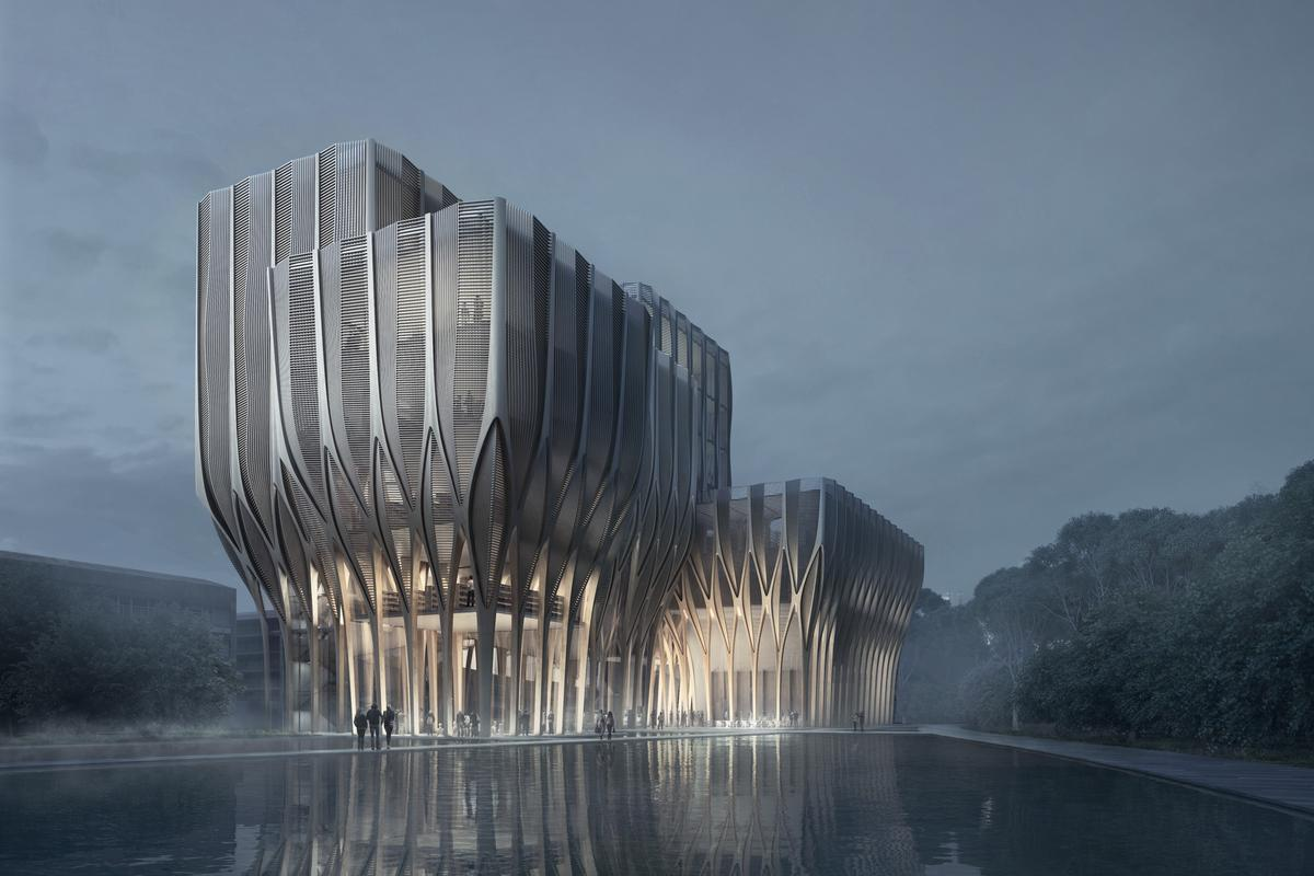 Cambodia's Sleuk Rith Institute will be Hadid's first large-scale wooden project (Image: ZHA)