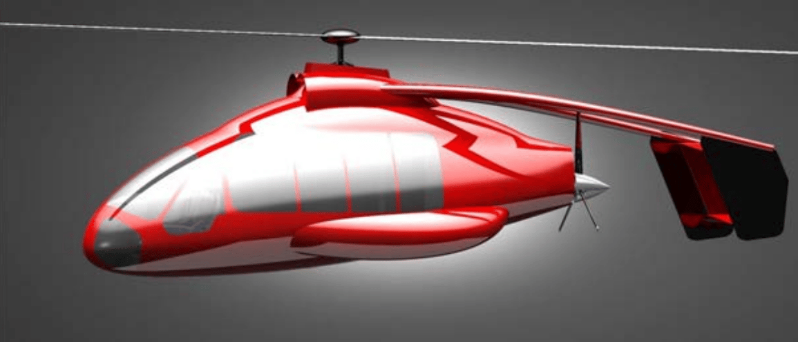 This fairly uninspiring render is the only hint we get so far at what a Skyworks eVTOL air taxi might look like