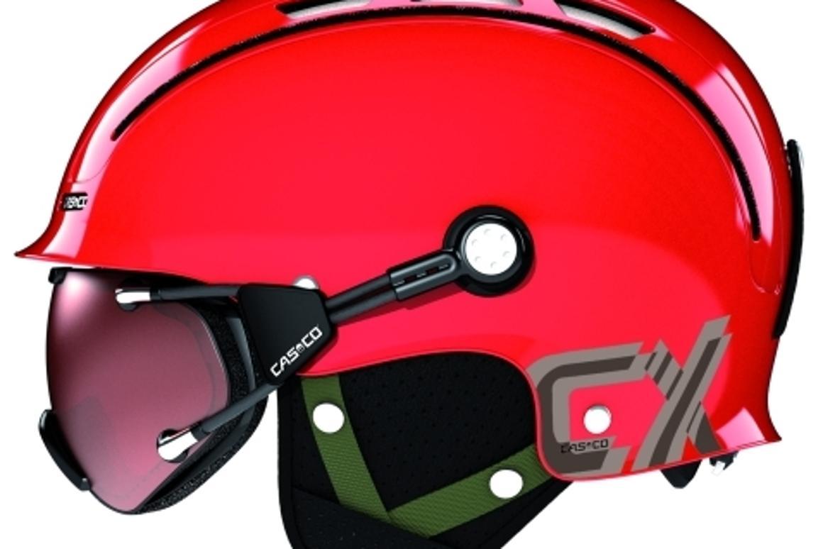 Casco CX helmet with goggles