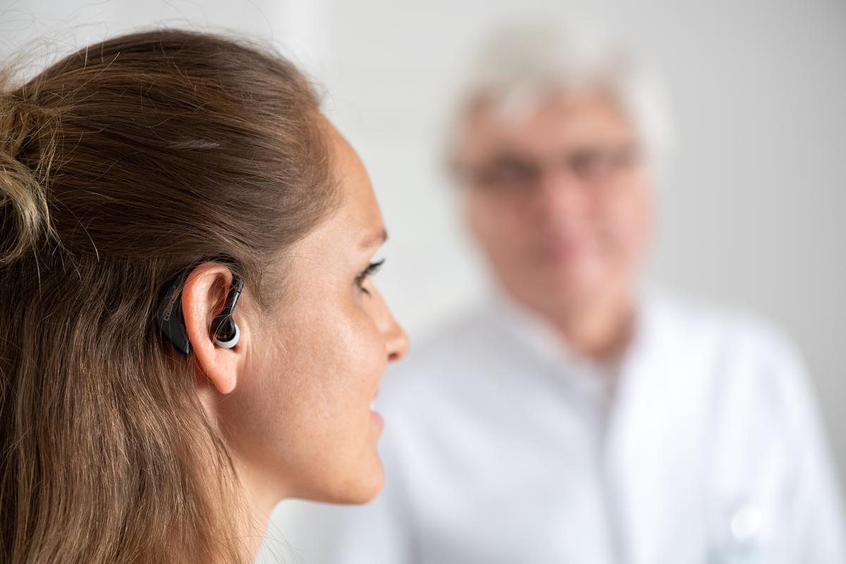 The in-ear sensor sends data every 15 minutes to a telemedicine center allowing doctors to track patient status in real time