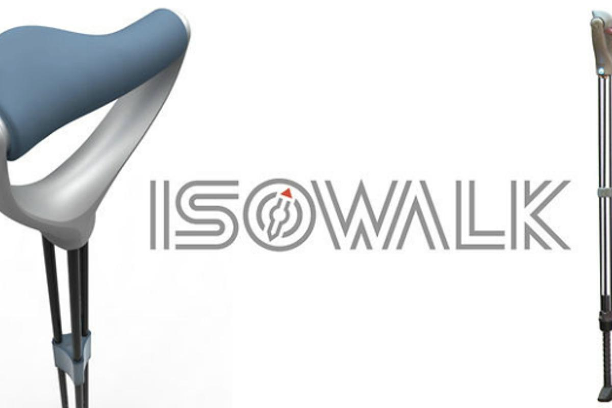 Isowalk is a new walking cane with cutting edge design and wireless