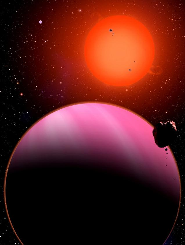 Artist's impression of a 'Super-Neptune' exoplanet