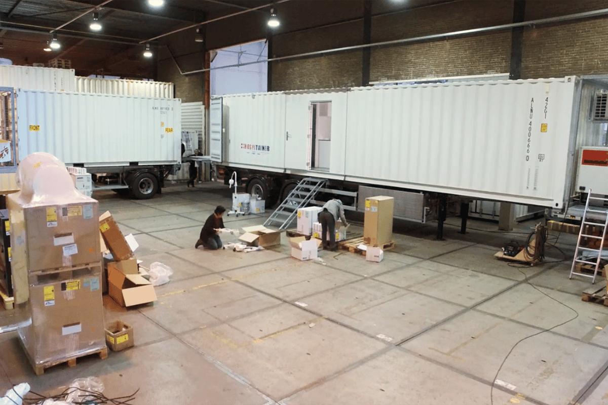 Médecins Sans Frontières' second Mobile Unit Surgical Trailer (MUST) under construction