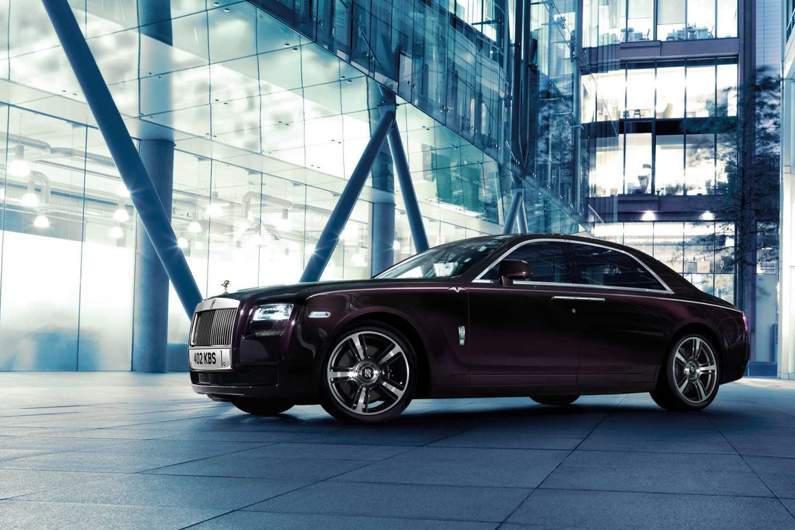 The Rolls-Royce Ghost V-Specification is available as a limited edition
