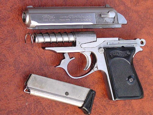 A stripped Walther PPK