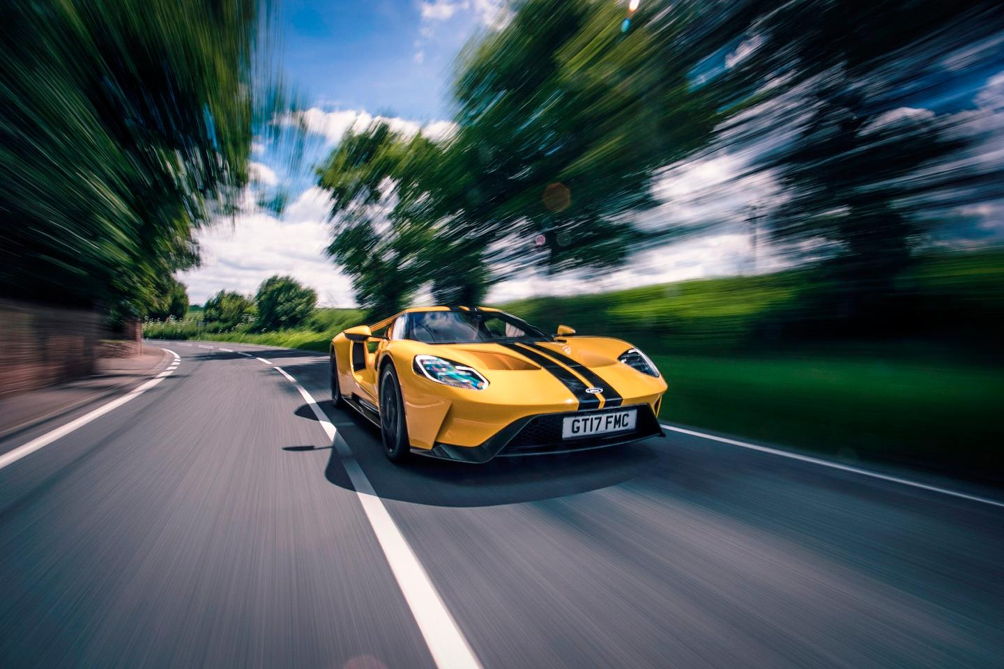 The Ford GT, photographed in the UK