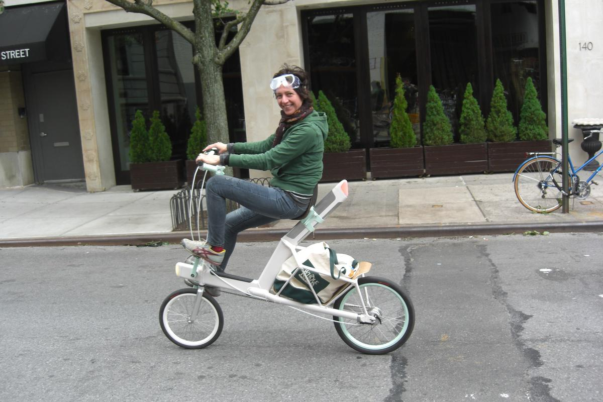 The Etta semi-recumbent cargo bike designed by Nick Foley