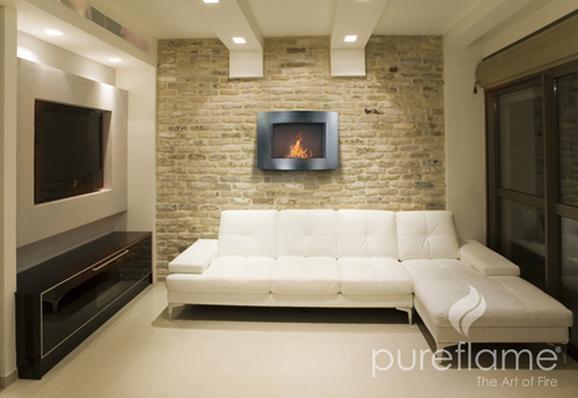 Pureflame's Adena wall-mounted fireplace