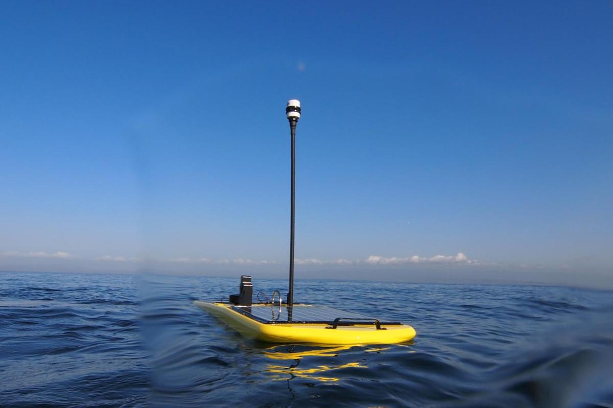 The above-water component of one of the four Wave Gliders