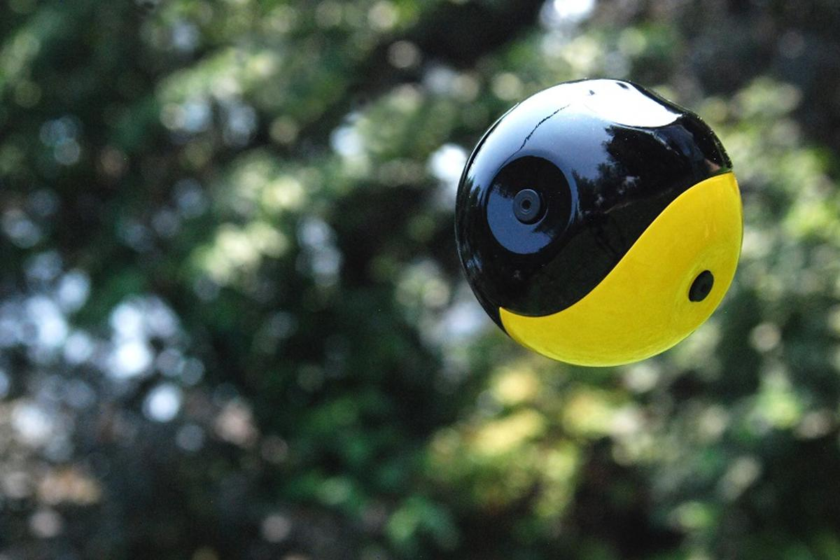 Squito is a throwable ball camera prototype enabling panoramic views to be captured every time it's launched into the air