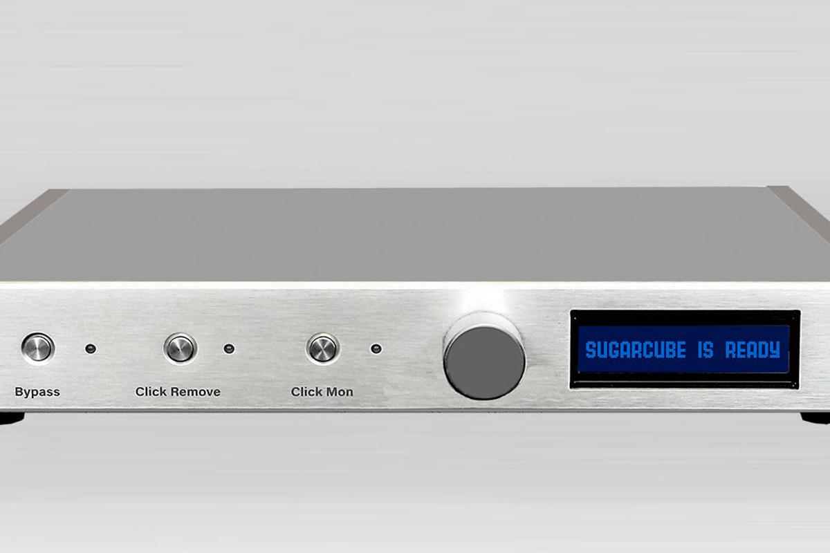 The SugarCube SC-1 uses SweetVinyl's own algorithm to remove unwanted noise from records