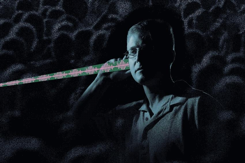 he researchers use water vapor in the air to absorb light and create sound. By sweeping the laser they can create an audio signal that can only be heard at a certain distance from the transmitter, allowing it to be localized to one person.