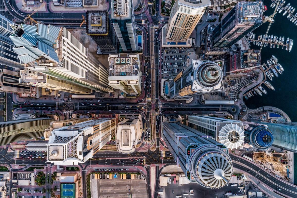 The towering skyscrapers of Dubai