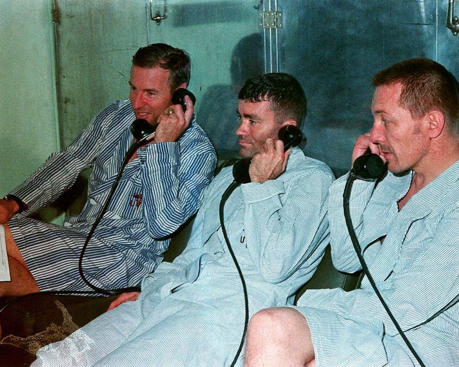 L'équipage d'Apollo 13 était dans un état raisonnable malgré son épreuve