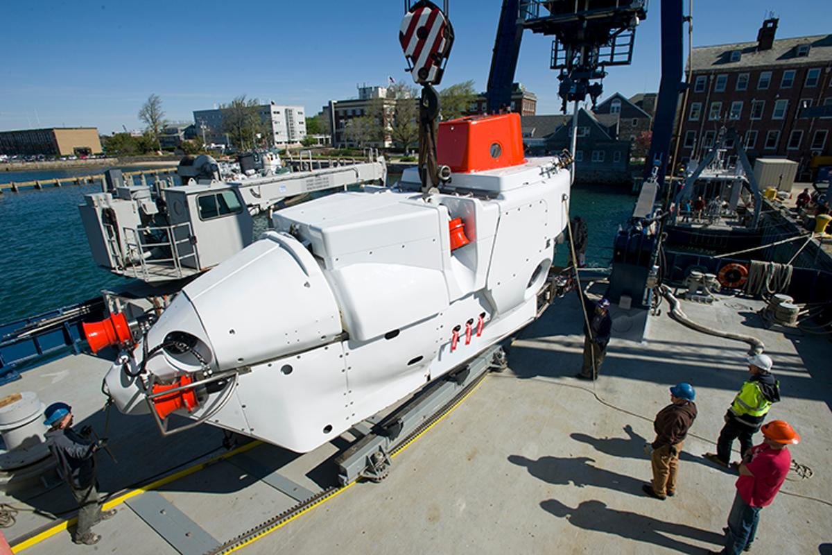 After almost half a century in service, the revamped Alvin submersible is once again heading for deep water