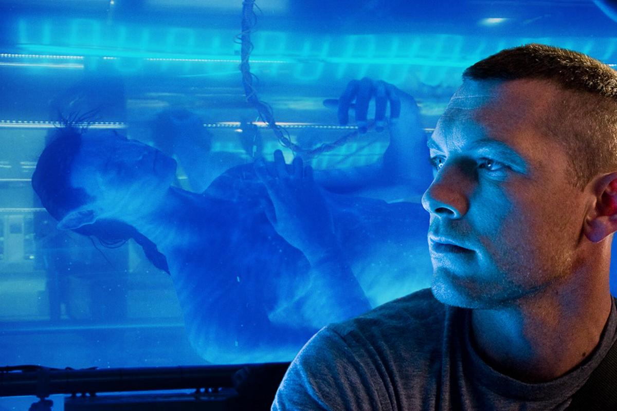 Jake Scully (Sam Worthington) with his organically-grown alien avatar body.