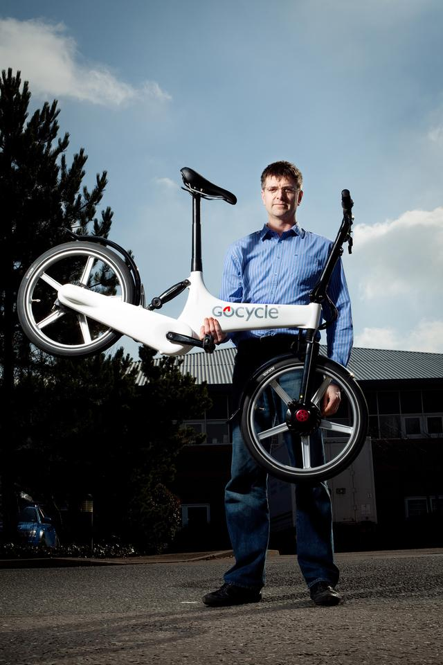 Karbon Kinetics Limited founder Richard Thorpe with with the lightweight Gocycle G2