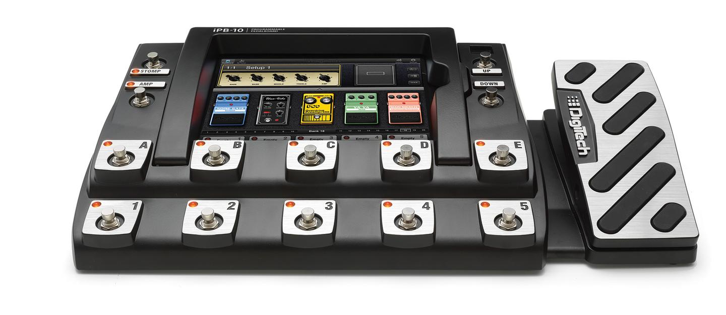 The iPB-10 combines the simplicity of a pedalboard with the power and flexibility of an touchscreen tablet