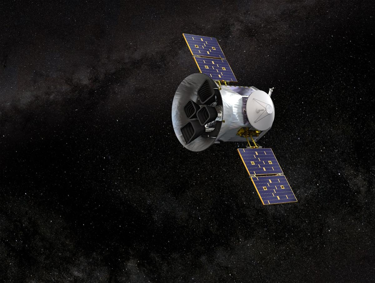 Artist concept of theTESS spacecraft which recentlyobserveda supernova and the elemental content of its spectra