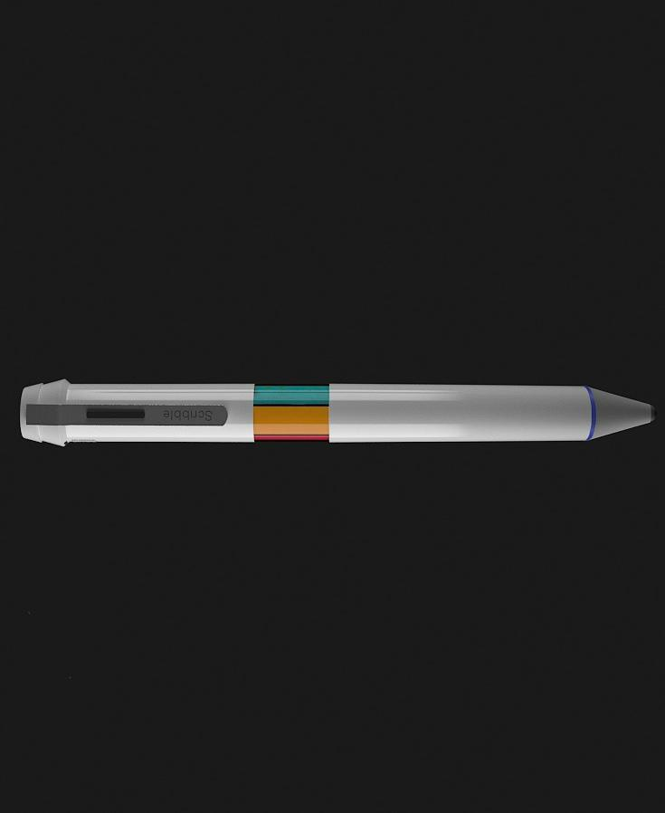 The Scribble pen produces ink based on color samples of real-world objects