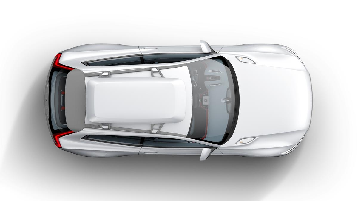 The Concept XC Coupé includes utility elements like a roof box and high clearance