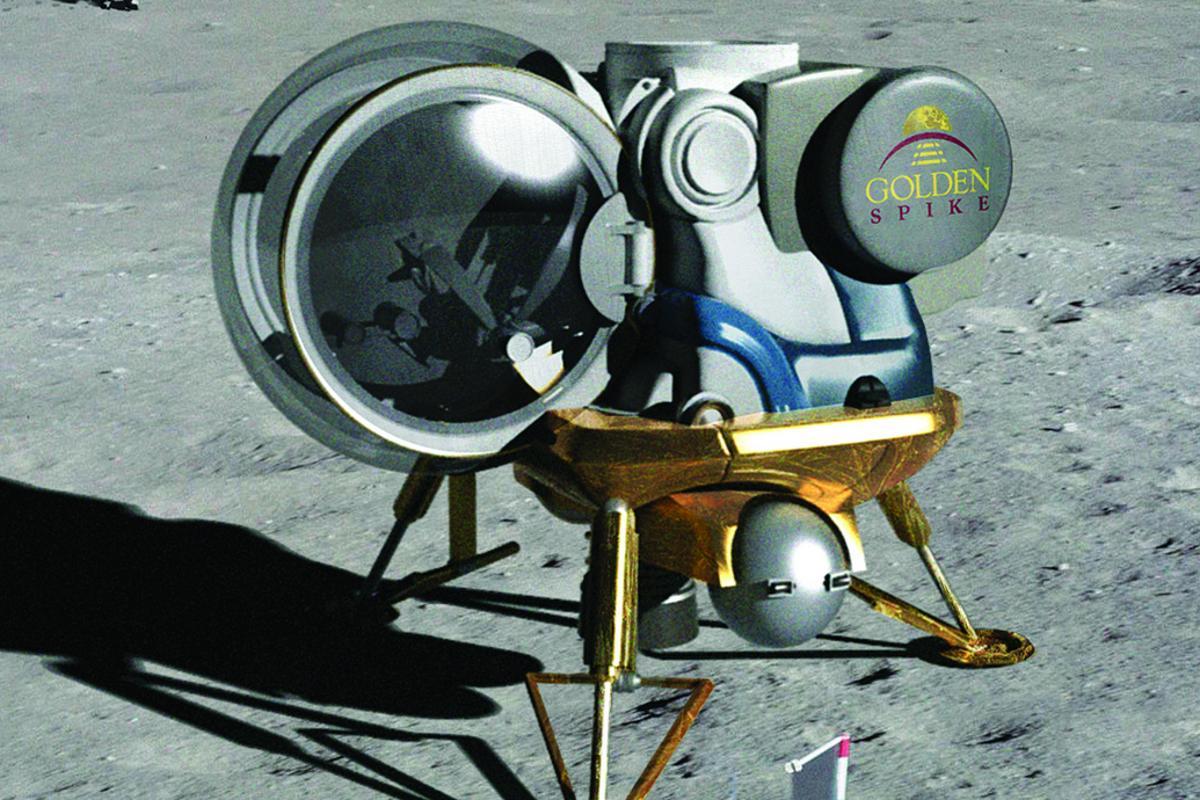Artist's concept of a Golden Spike lunar lander