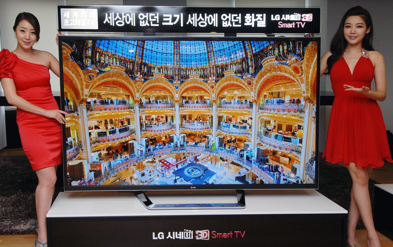 LG's new 84 inch Ultra HD television (Photo: LG)