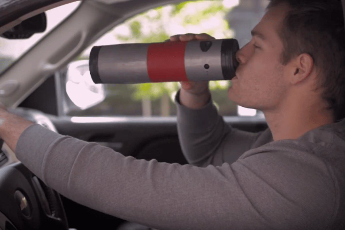 The Mojoe is designed for commuters and others that want fresh coffee on the go