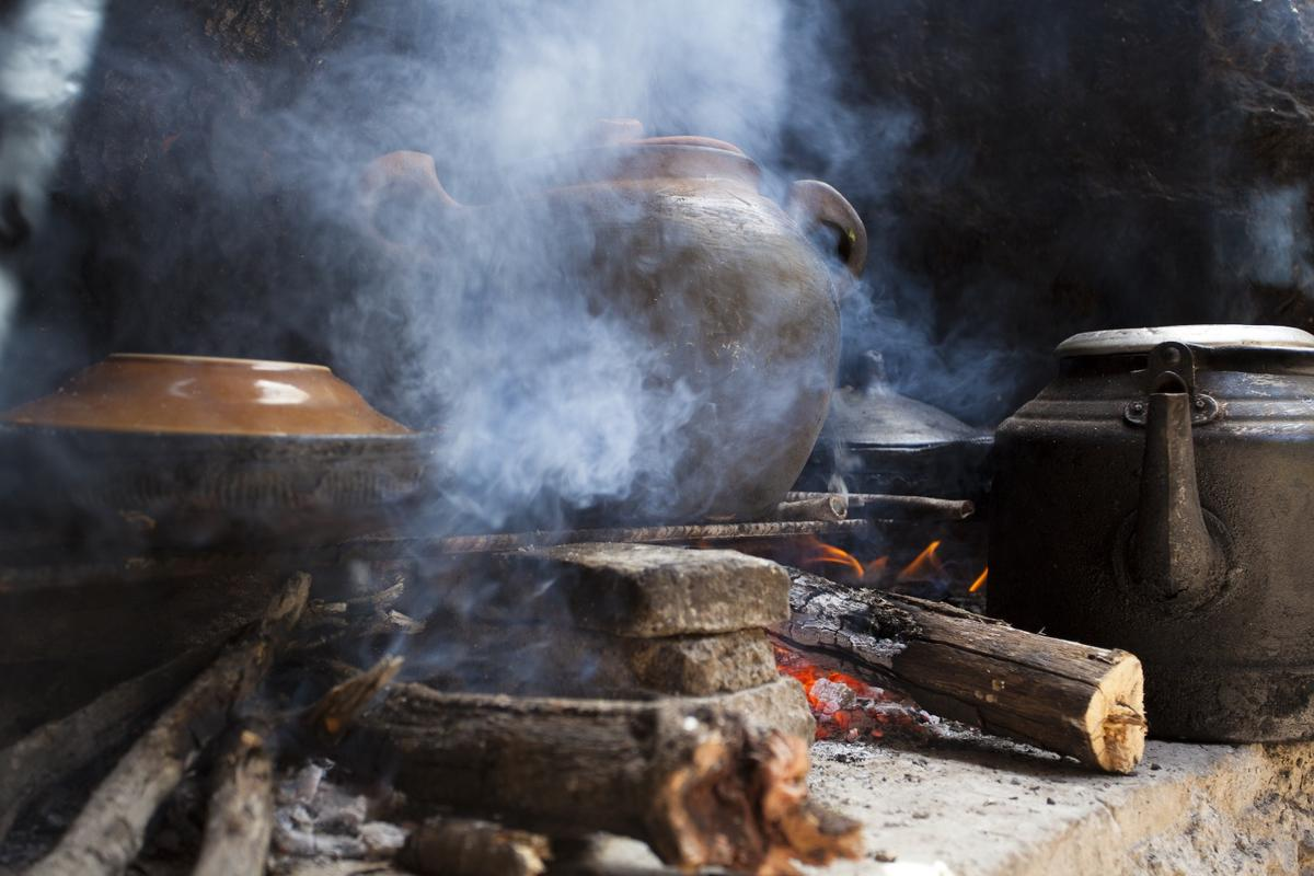 RTI's stove could be a cleaner, healthier alternative to smoky cooking fires like this one