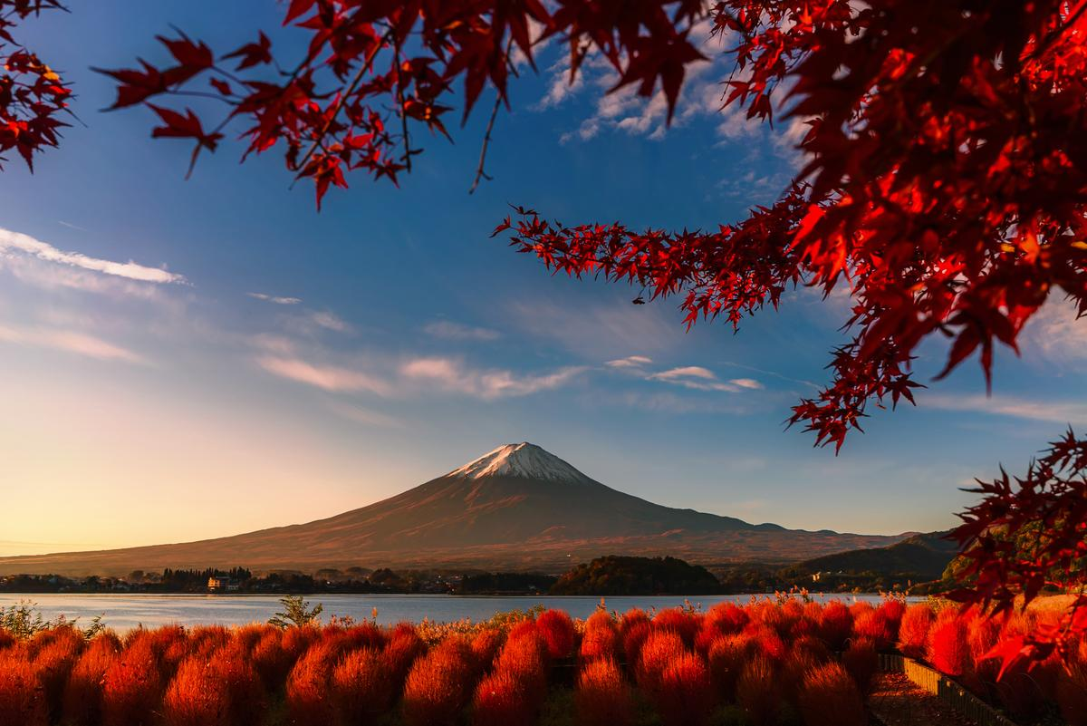 "Winner, Thailand. ""Red day"". Kawaguchigo lake, Japan"
