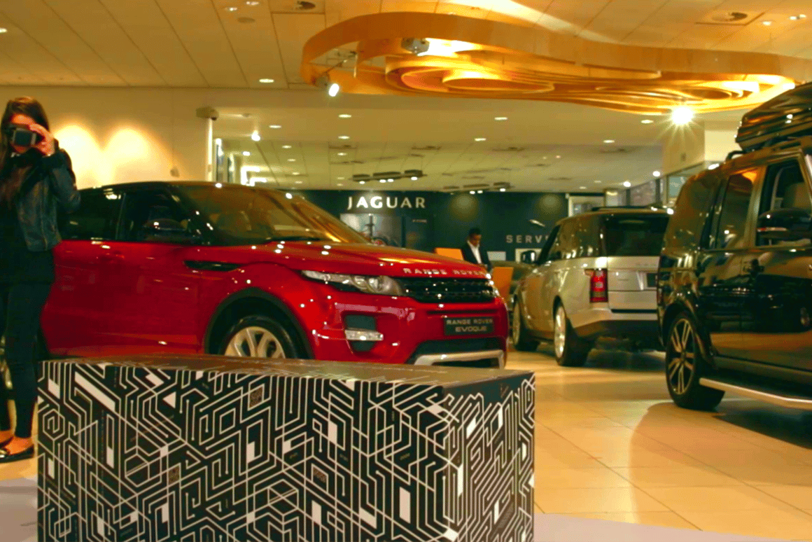 Visitors to UK Land Rover dealerships can take a virtual tour of the Discovery Sport