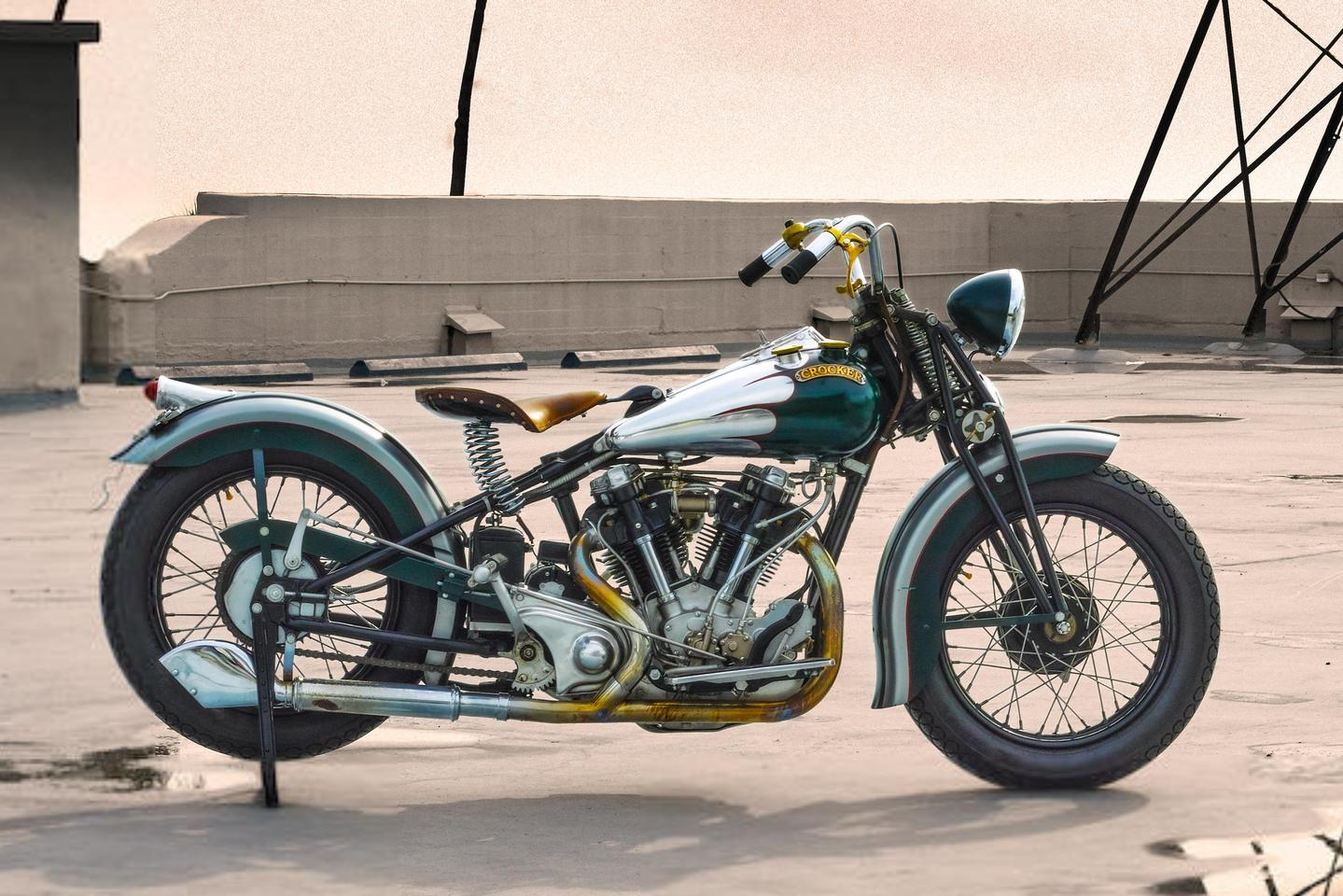 This 1940 Crocker Big Tank V-Twin is likely to become one of the top ten most valuable motorcycles of all time if it sells.