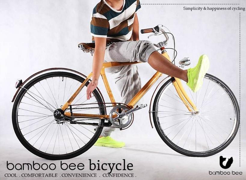 Bamboo bee hopes to make a mass-produced bamboo bike feasible