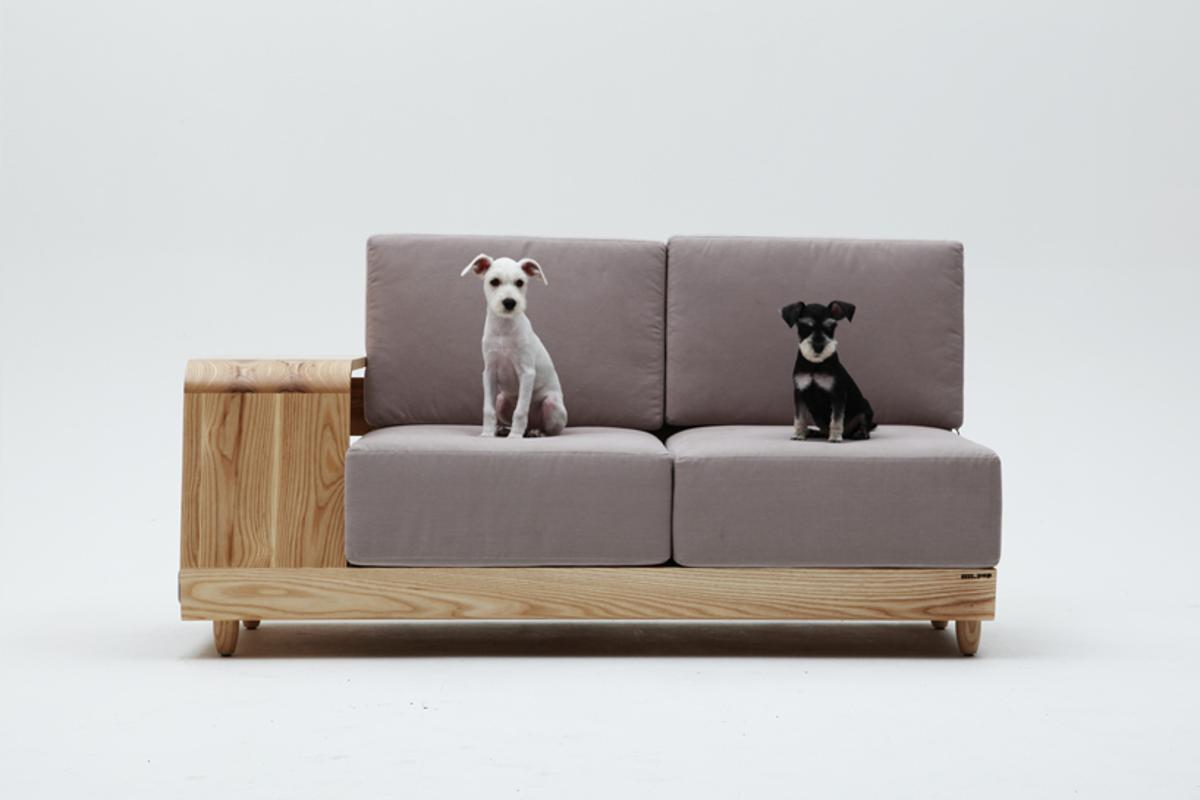 South Korean designer Seungji Mun has continued his trend of animal friendly furniture with a Dog House Sofa