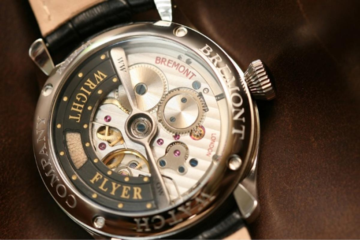 The Bremont Wright Flyer watch contains a swatch of muslin from the first heavier than air flying machine