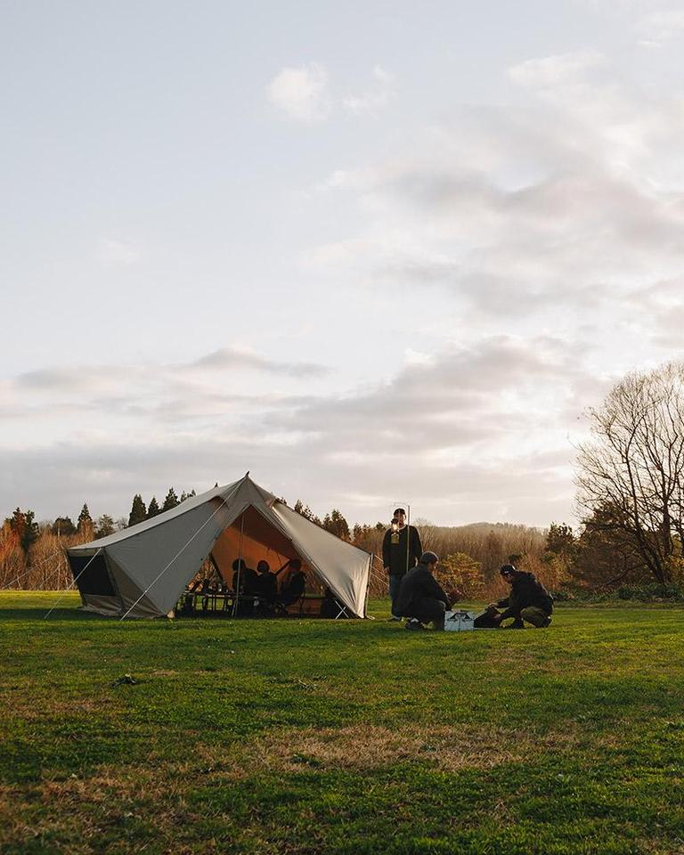 Snow Peak's Living Lodge is a spacious and versatile camping solution, that can also be used purely as an entertaining space