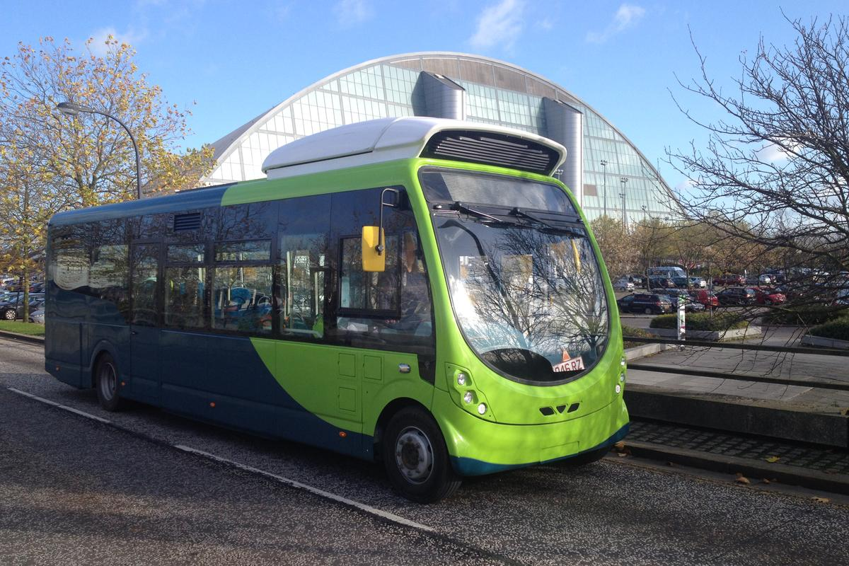 One of the Milton Keynes electric buses