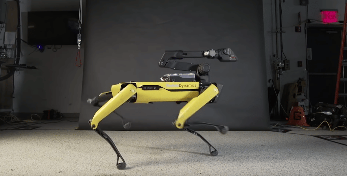 Spot rocking the Boston Dynamics d-floor