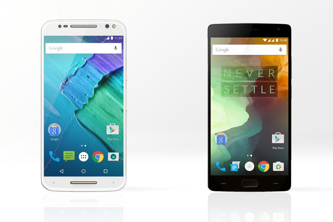 Gizmag compares the features and specs of the new Moto X Pure Edition (left, also known as Moto X Style) and the OnePlus 2