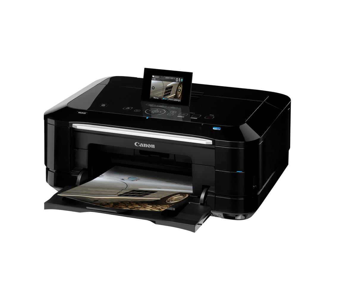 The Canon PIXMA MG8120 and the MG6120 have touch screen technology and full HD movie print function
