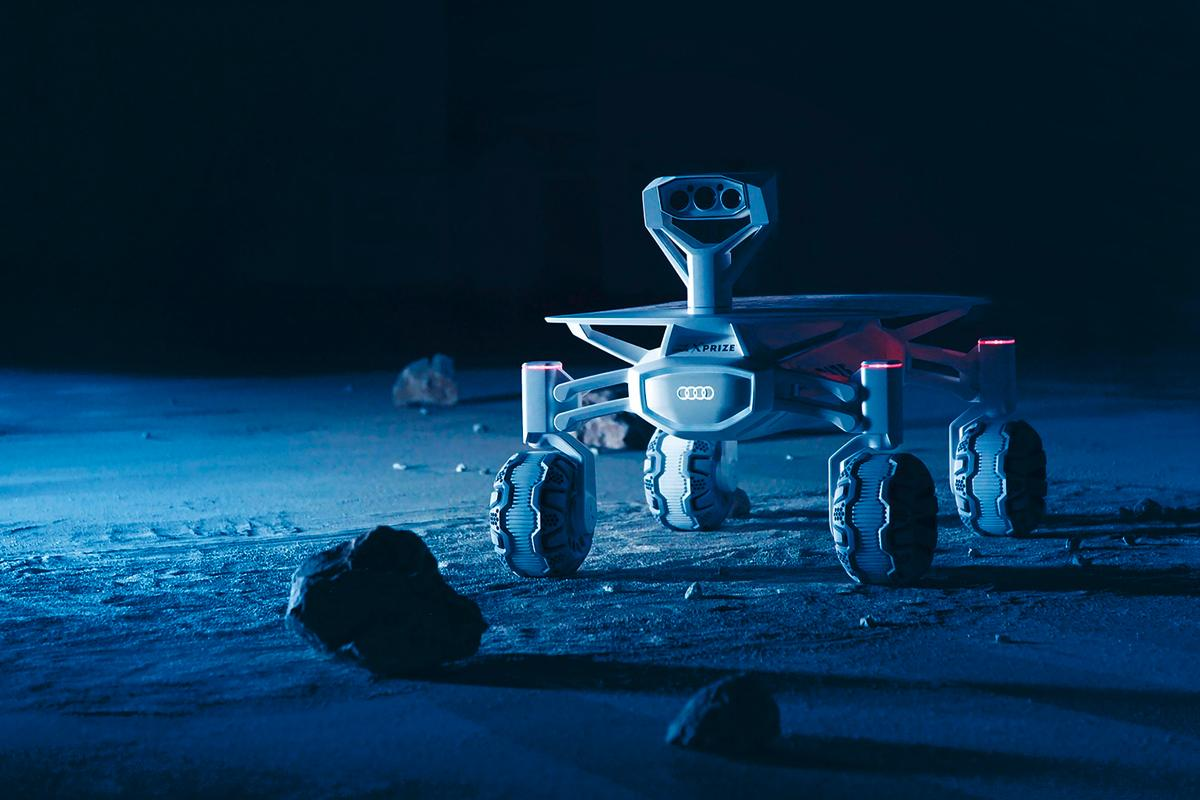 The Audi lunar quattro moon rover has a top speed 3.6 km/h