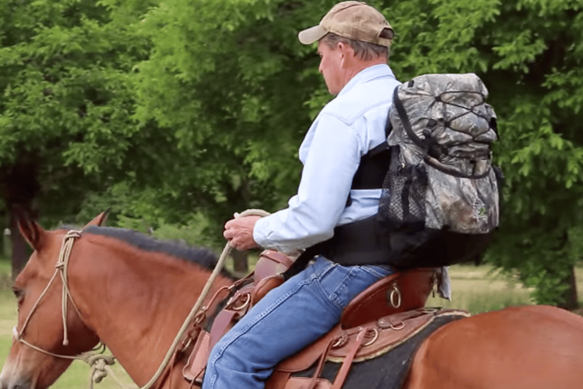 The ME-2 backpack pulls weight off the shoulders and redistributes it