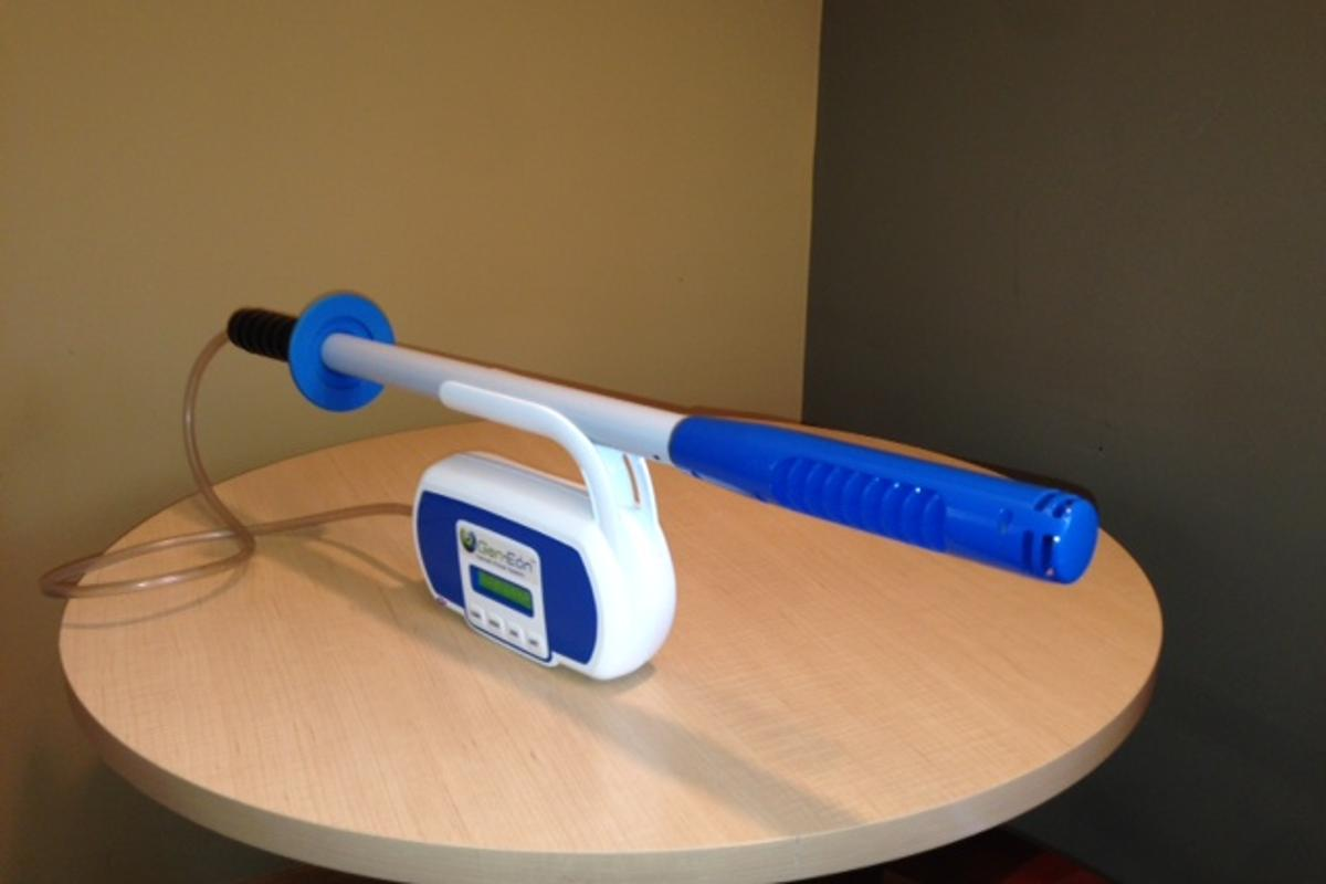 "The Immerse-A-Clean wand is said to be much more portable than existing ""bleach generators"""