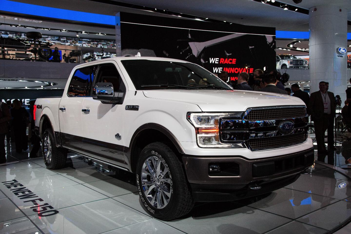 The new Ford F-150 King Ranch on the floor of the Detroit Auto Show
