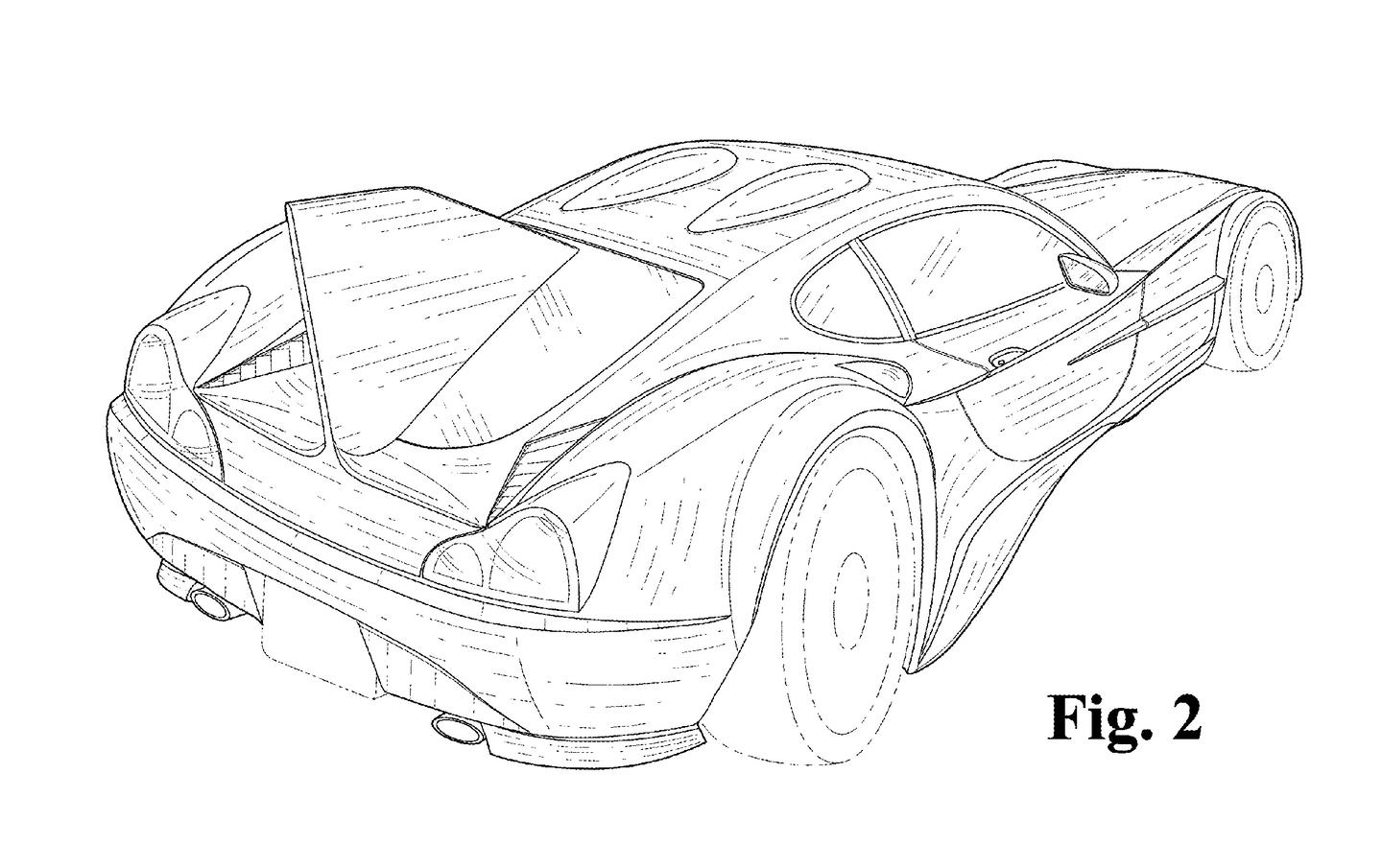 Unlike the racer, it also gets a rear window – albeit one that's split down the middle by a large stabilizing fin