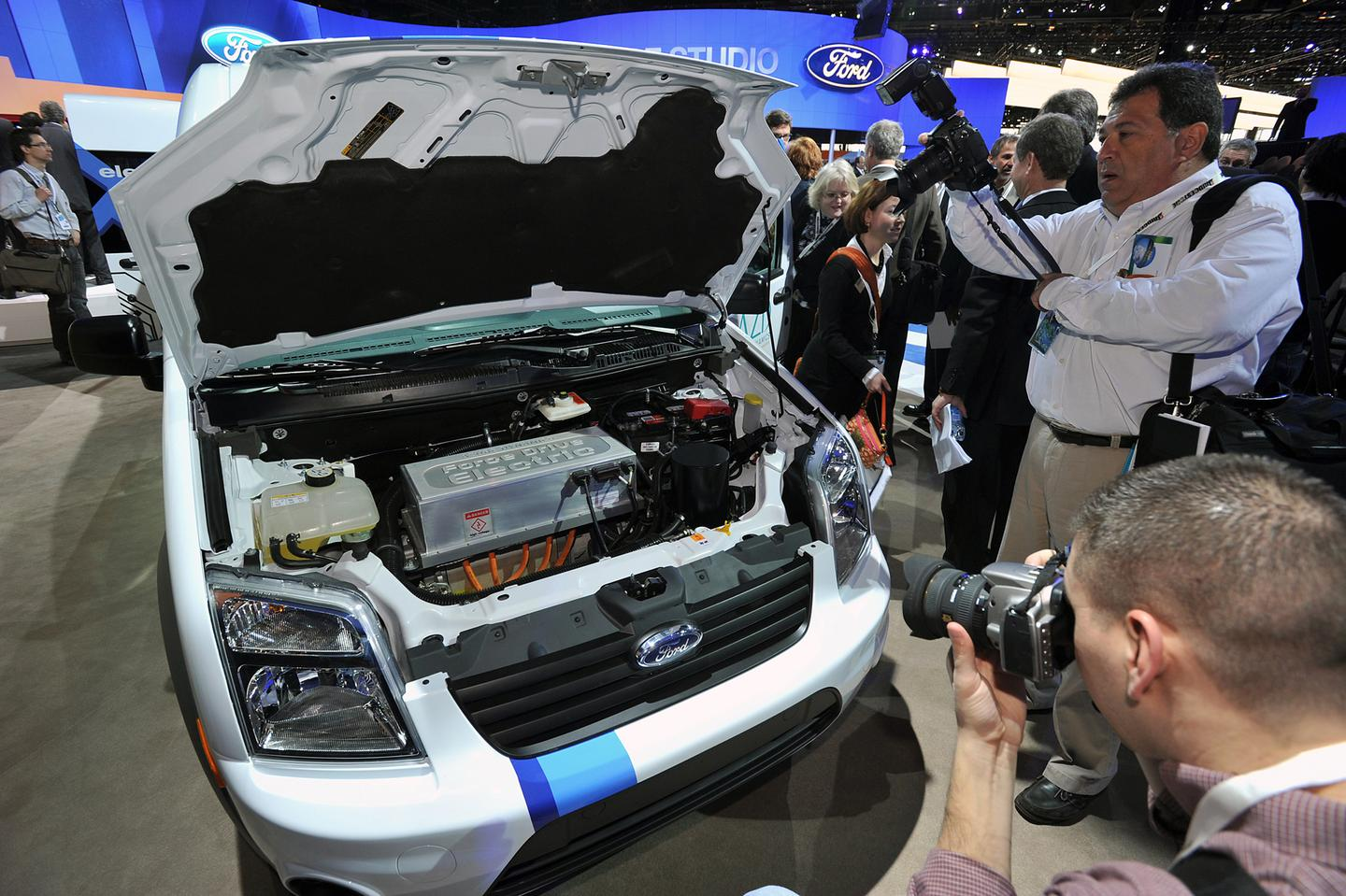 Under the hood of the Transit Connect Electric van