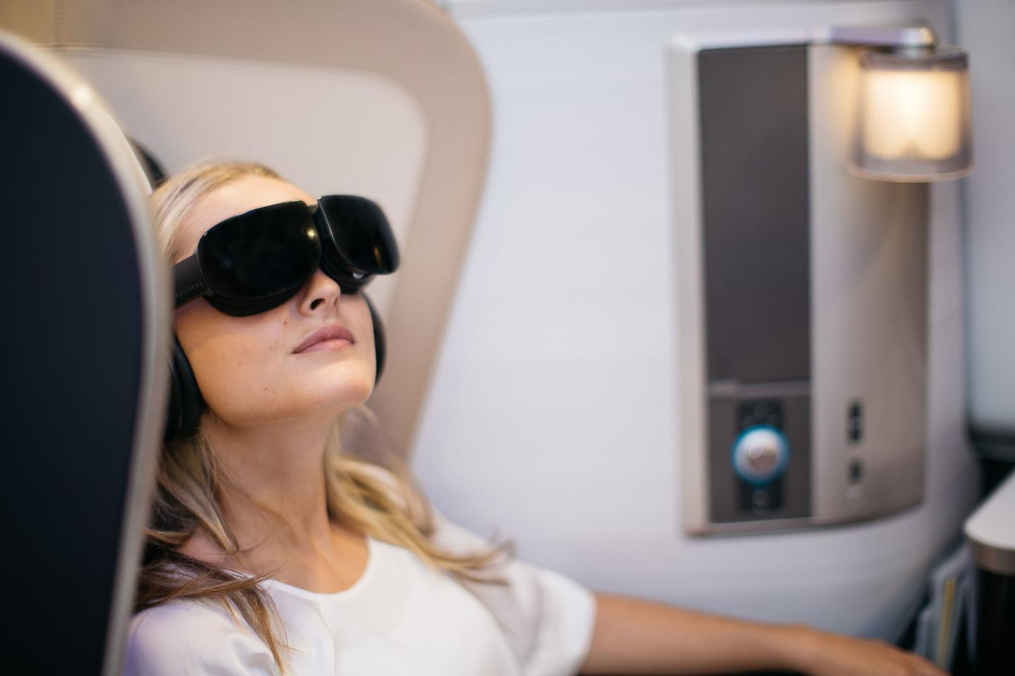 First class passengers on select BA117 flights between London and New York are being offered the chance to escape into an immersive entertainment experience courtesy of virtual reality headsets