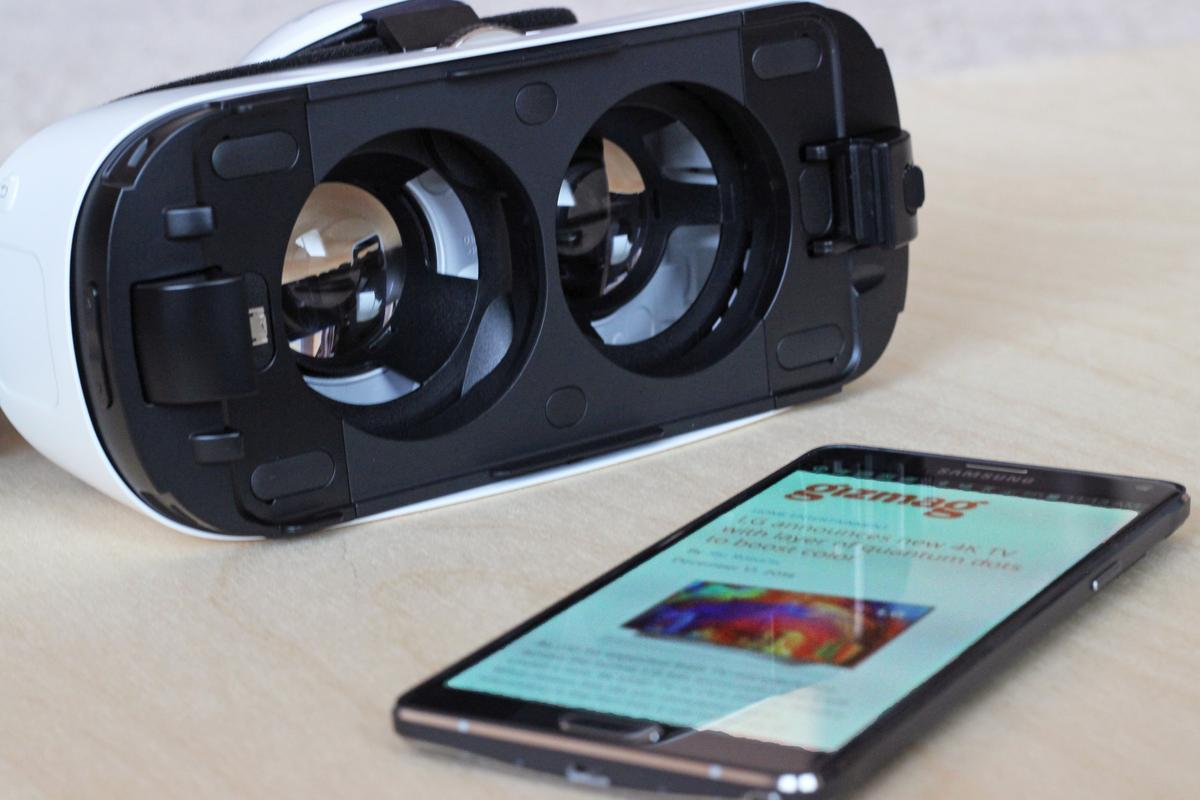 The Samsung Gear VR's library has grown significantly since launch (Photo: Will Shanklin/Gizmag.com)