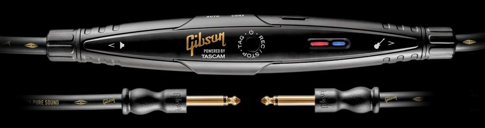The Gibson Memory Cable features a compact solid state recorder designed by engineers from its Tascam wing