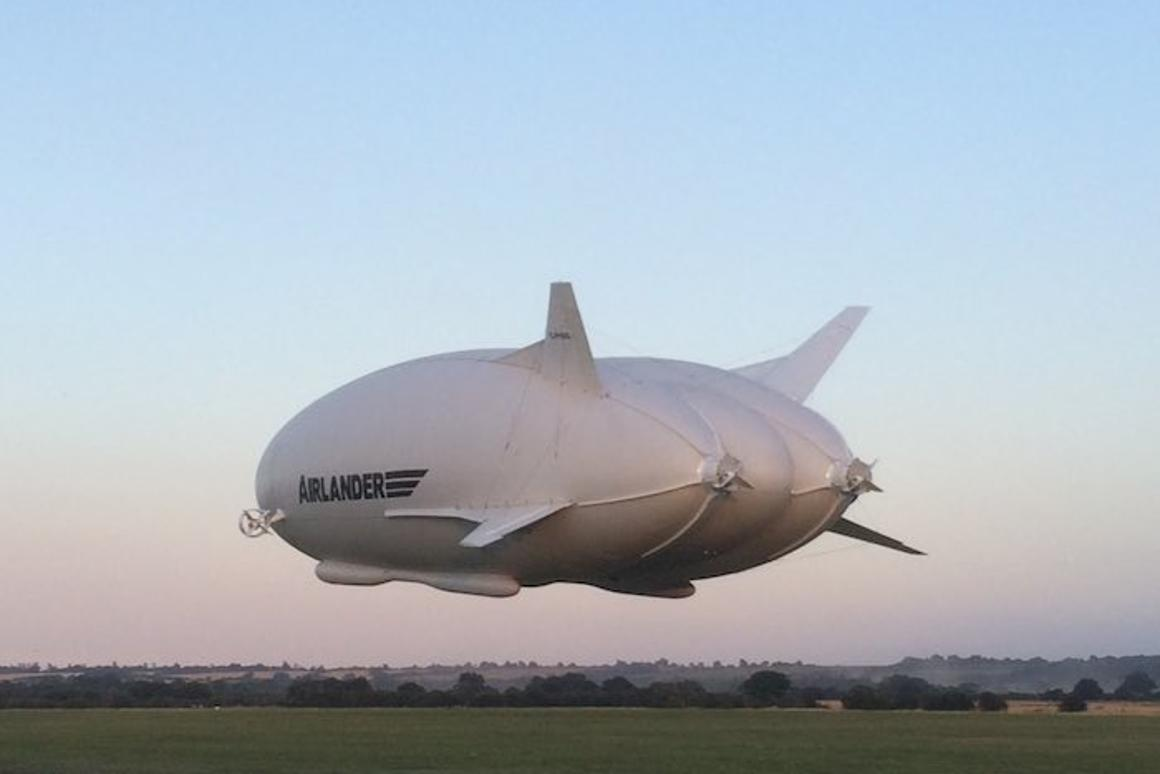 The world's largest aircraft, the AIrlander 10, has made its maiden flight in the UK